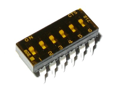 SPST DIP Switch 6-Position