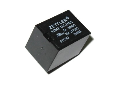 Miniature SPST Relay 24V - 10A@277VAC AZ942-1AT-24DE