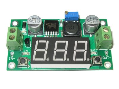 Step Down Power Supply with Built-in Voltmeter