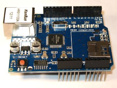 Ethernet LAN Network Shield W5100 w/ MicroSD Card for Arduino