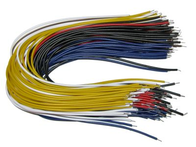 Tinned Multicore Flexible Wire 20cm 5 Colors x 20pcs Each = 100pcs